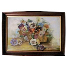 Antique Oil on Board Painting Signed and Dated 1905