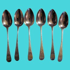 Antique English Sterling Silver Teaspoons 1817 London William Bateman