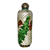 Antique Chinese Cloisonné Snuff Bottle Ching Dynasty