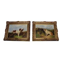Pair William Warren Oil on Canvas Paintings English 19th Century