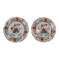 Pair Antique Faience Dishes 18th Century