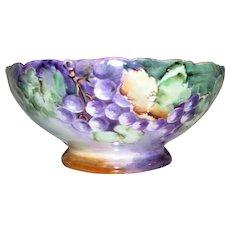 Antique Favorite Bavaria Hand Painted Porcelain Fruit Bowl Circa 1900 Signed
