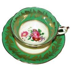 Vintage 1940's Paragon Porcelain Cup and Saucer Double Warrant