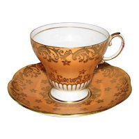 Vintage Foley English Porcelain Cup and Saucer Mid 20th Century