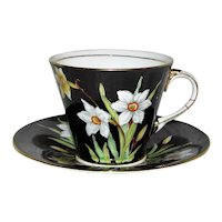 Vintage Aynsley English Porcelain Cup and Saucer Mid 20th Century