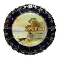 Antique Nippon Hand Painted Porcelain Plate Circa 1900 Morimura Gumi