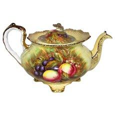 Rare Vintage Aynsley Orchard Gold Teapot Doris Jones Circa 1950