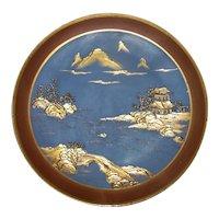 Antique Nippon Hand Painted Porcelain Plate Circa 1920 Morimura