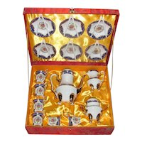 Vintage Chinese Yao Shing Porcelain Tea Set 20th Century MIB