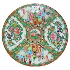 Antique Chinese Export Rose Medallion Plate Circa 1930