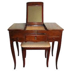 Antique French Louis XV Walnut Dressing Table 18th Century