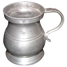 Antique English Pewter Mug Circa 1820