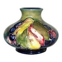 Vintage Moorcroft Leaf and Berries Bud Vase 1928-1949