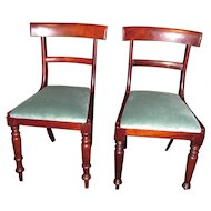 Antique English Side Chairs Mahogany Circa 1830