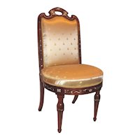 Set of Four Antique Italian Inlaid Rosewood Side Chairs Circa 1830