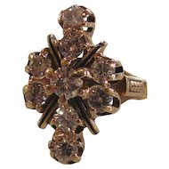 Vintage 1960's 14K Yellow Gold Diamond Ring 1.40cts.