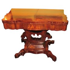 Antique American Mahogany Game Table Circa 1830