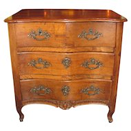 Antique French Louis XV Walnut Commode Circa 1740