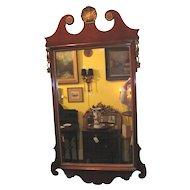 Antique American Mahogany Chippendale Style Mirror Circa 1880