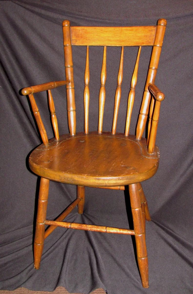 Antique American Rod Back Windsor Armchair Circa 1810 ...