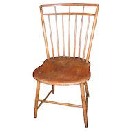 Antique American Rod Back Windsor Side Chair Circa 1810
