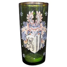Antique Continental European Enamelled Glass Circa 1900