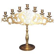 Antique Chinese Brass Candelabra Circa 1900