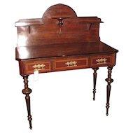 Antique French Louis Phillipe Rosewood Desk Circa 1860