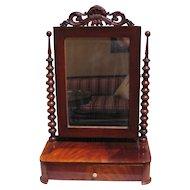 Antique Continental Mahogany Dressing Mirror Circa 1830