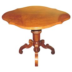 Antique French Louis Phillipe Walnut Center Table Circa 1850