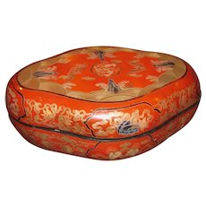 Chinese Rebublic Period Red Lacquer Box Circa 1920