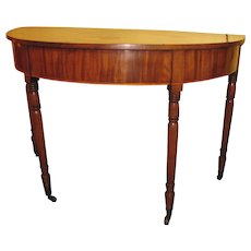 Antique English Mahogany D End Side Table Circia 1820