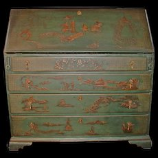 Antique American Slant Front Desk Chinoisserie Painted Circa 1800 - Red Tag Sale Item