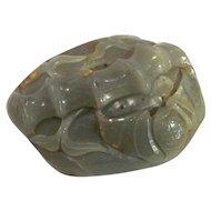 Vintage Chinese Celadon Jade Carving Circa 1940