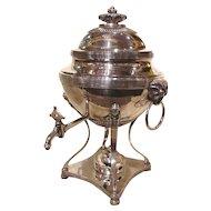 Antique English Georgian Silverplate Hot Water Urn Circa 1810