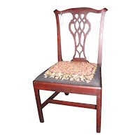 Antique American Mahogany Chippendale Side Chair Circa 1780