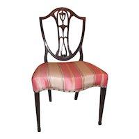 Set of 4 Antique English Mahogany Hepplewhite Dining Chairs Circa 1780