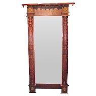 Antique American Mahogany Federal Pier Mirror Circa 1825
