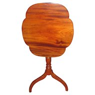 Antique American Federal Candle Stand Cherry and Mahogany Circa 1800 Tilt Top