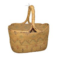 Antique Native American Basket Early 20th Century
