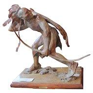 Jerry McKellar Bronze Indian Sculpture 20th Century Monumental