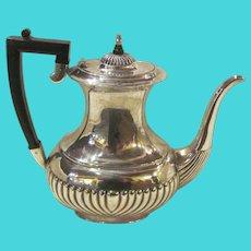 Antique English Silverplate Tea or Coffee Pot Sheffield  Circa 1910
