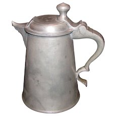 Antique Pewter Tankard 19th Century Dated 1851