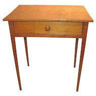 Antique American Federal Maple Side Table Circa 1790
