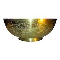 Antique Chinese Brass Singing Bowl Circa 1900