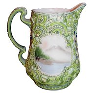 Antique Japanese Moriage Cream Pitcher Circa 1920 Nippon