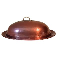 Antique English or American Copper Game Dome 19th Century