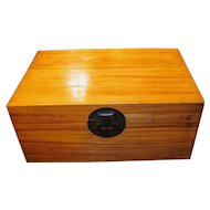 Antique Chinese Camphor Wood Chest 19th Century