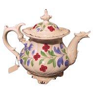 Antique English Staffordshire Teapot Circa 1830