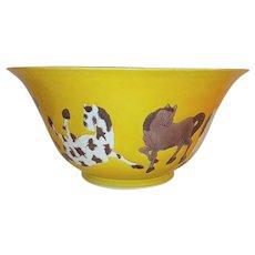 Antique Chinese Kangxi Style-Pat-Ma-Tou- Brinjai Bowl Late Qing - Republic Period